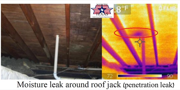 Moisture leak around roof jack