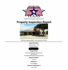 Commercial Inspection Report